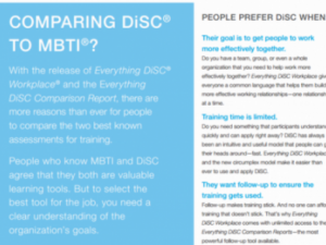 DiSC and the MBTI