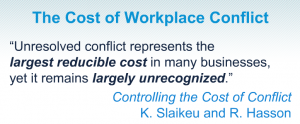 the cost of workplace conflict