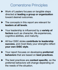 Work of Leaders cornerstone principles