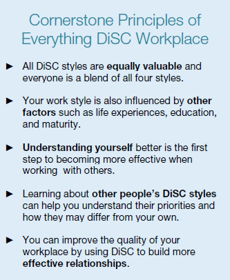 cornerstone principals of Everything DiSC Workplace