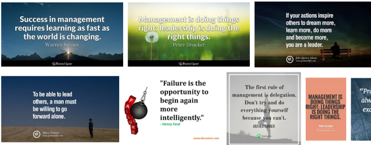 images of management quotes