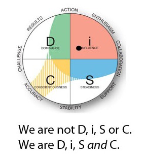 We are D, i, S, and C