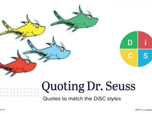 DiSC activity with Dr. Seuss quotes