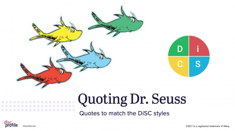 DiSC and Dr. Seuss presentation title slide
