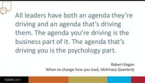 All leaders have both an agenda ...