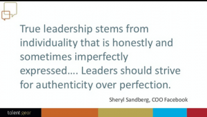 True leadership stems ...