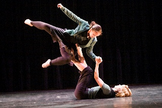 Dancers performing a lift