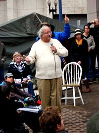 Marshall Ganz speaking at Occupy Boston