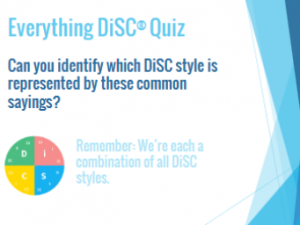 DiSC: Common sayings quiz