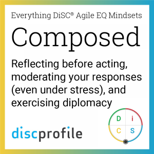 The Composed mindset: Reflecting before acting, moderating your responses (even under stress), and exercising diplomacy.