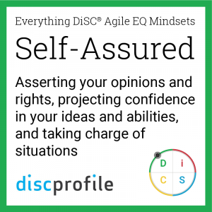 The Self-Assured mindset: Asserting your opinions and rights, projecting confidence in your ideas and abilities, and taking charge of situations