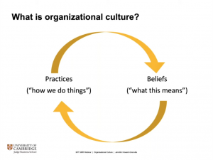 Jennifer Howard-Grenville's cycle of practices and beliefs.