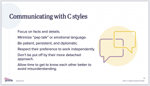 Communicating with C styles slide